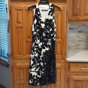 Lauren Ralph Lauren Black/Cream/Gray Floral Dress
